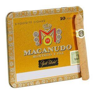Macanudo Gold Label Ascots Tin